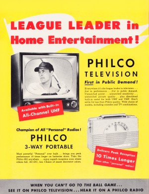Vintage Philco Television Advertisement by Row One Brand