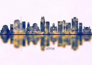 Sofia Skyline by Towseef Dar