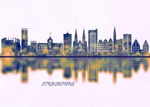 Strasbourg Skyline by Towseef Dar