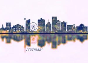 Stuttgart Skyline by Towseef Dar