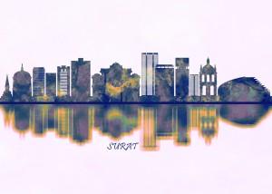 Surat Skyline by Towseef Dar