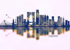 Suzhou Skyline by Towseef Dar