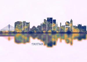 Tacoma Skyline by Towseef Dar