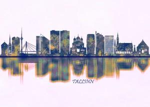 Tallinn Estonia Skyline by Towseef Dar