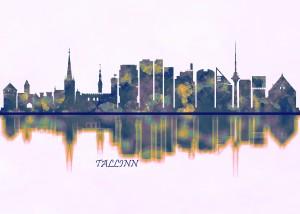 Tallinn Skyline by Towseef Dar