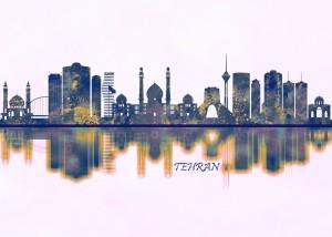 Tehran Skyline by Towseef Dar