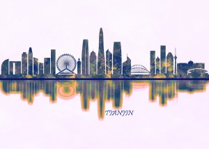 Tianjin Skyline by Towseef Dar