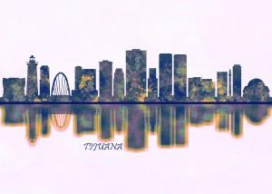 Tijuana Skyline by Towseef Dar