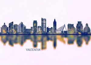 Valencia Skyline by Towseef Dar