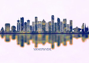 Vancouver Skyline by Towseef Dar