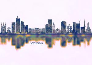 Vilnius Skyline by Towseef Dar
