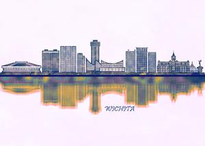 Wichita Skyline by Towseef Dar