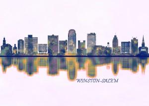 Winston-Salem Skyline by Towseef Dar