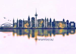 Wuppertal Skyline by Towseef Dar
