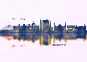Zaragoza Skyline by Towseef Dar