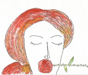 woman and rose by charles djalu