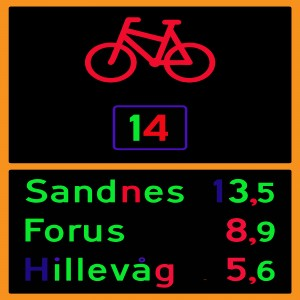 Norwegian bike route sign by dePace-