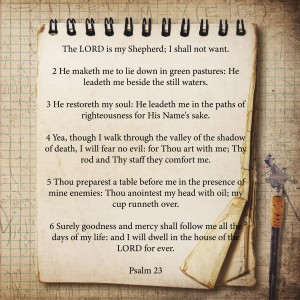 Psalm 23 by dePace-