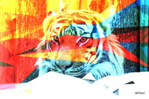 TIGER IN ABSTRACT FORM by dePace-