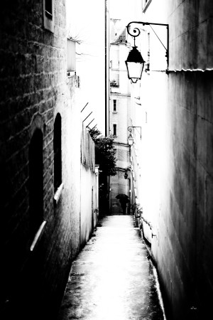 a very narrow street in Paris by dePace-