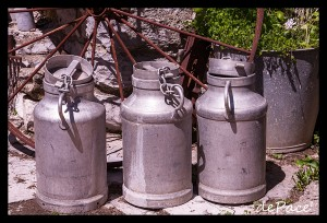 rustic milk cans by dePace-