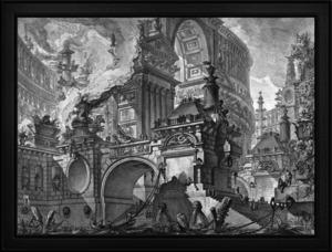Parte di Ampio Magnifico Porto by Giovanni Battista Piranesi Classical Fine Art Xzendor7 Old Masters Reproductions by xzendor7