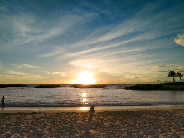 By the Fading Light of the Sun - Tropical Sunset Hawaii Digital Download