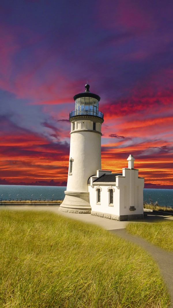 The LightHouse at Sunset Digital Download