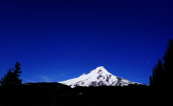 Mount Hood in the Waning Light of Day - Oregon Columbia River Gorge Digital Download