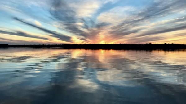 Sunset Ripple by Aaron Ramus