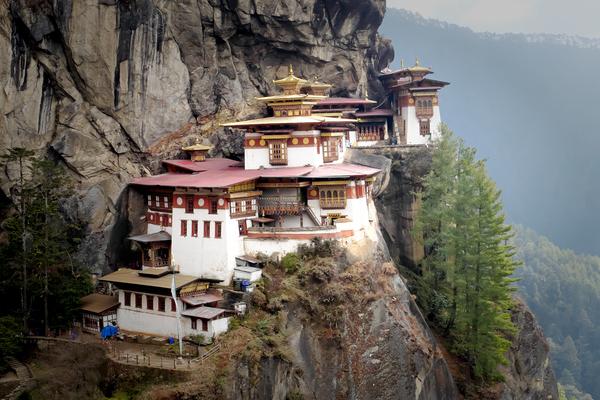 Monastery Buthan by Alain Beaudouard