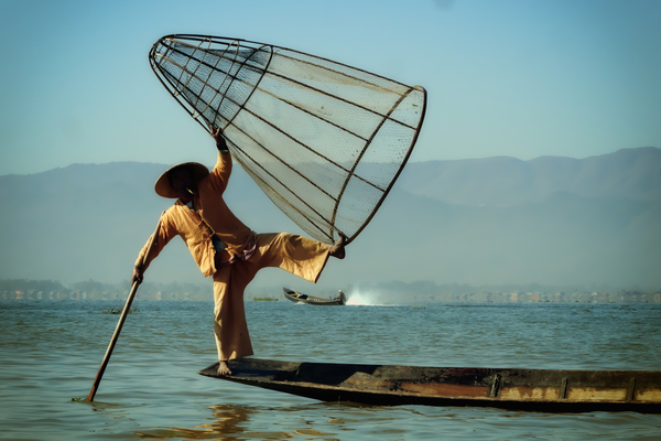 Fisherman by Alain Beaudouard