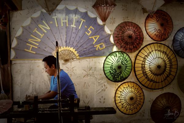 Umbrella maker by Alain Beaudouard