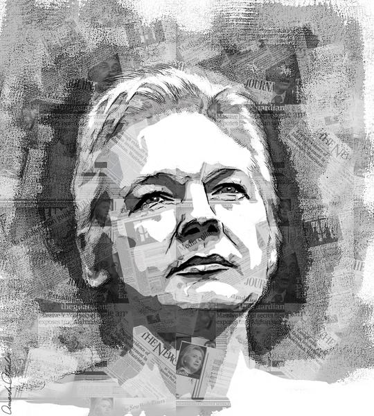 Assange by Amanda Atsalis