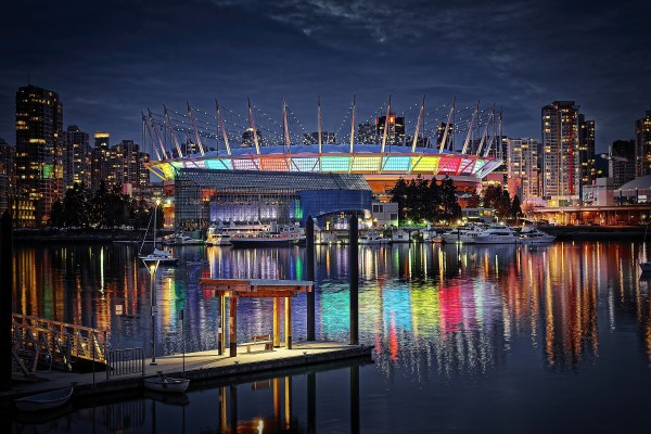 Colorful BC Place by Amazing Vancouver & Beautiful British Columbia by Jorge Ligason