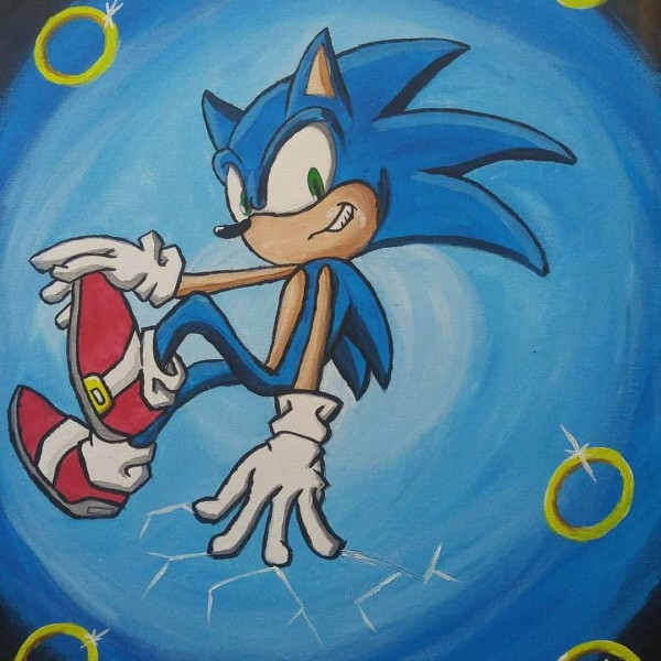Sonic the Hedgehog  by Anarchy Art