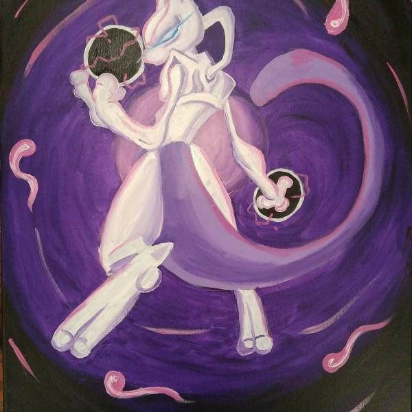 Mewtwo by Anarchy Art