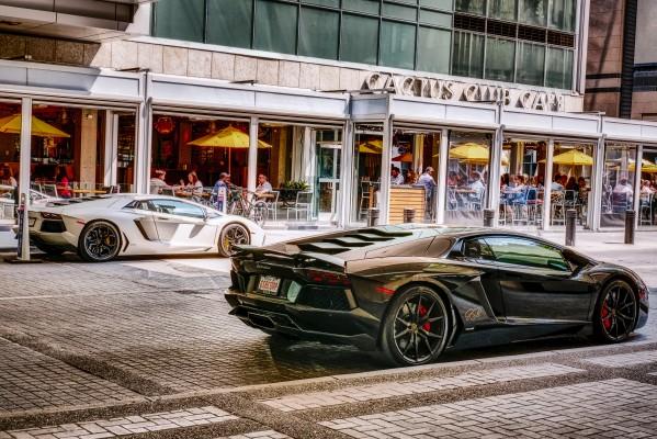 Ferrari and Lamborgini by Andrew Wasik