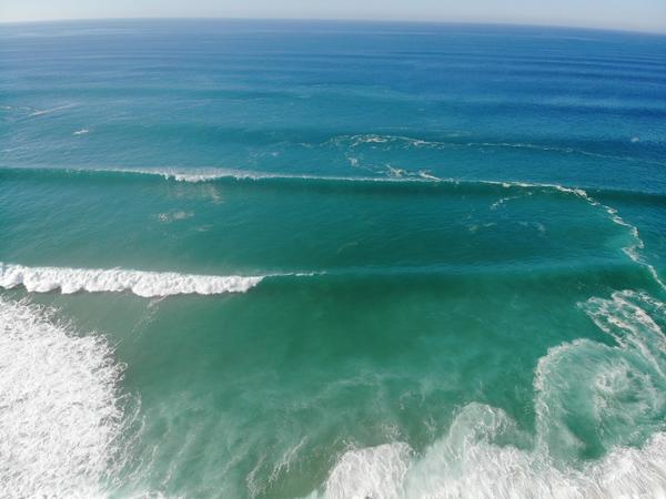 Atlantic ocean waves by Anita Varga