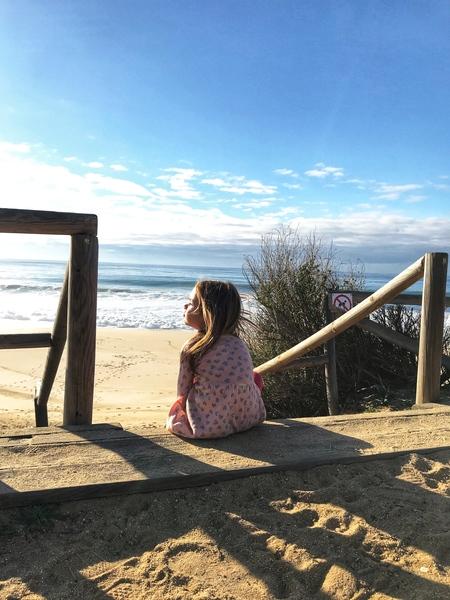 A little girl on a coast - Portugal by Anita Varga