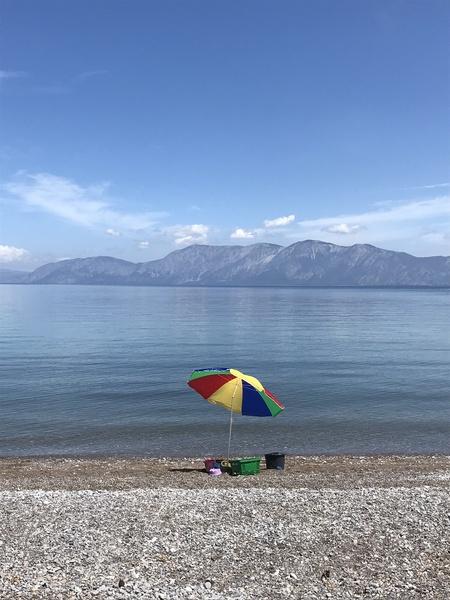 Greece the view of Evia by Anita Varga