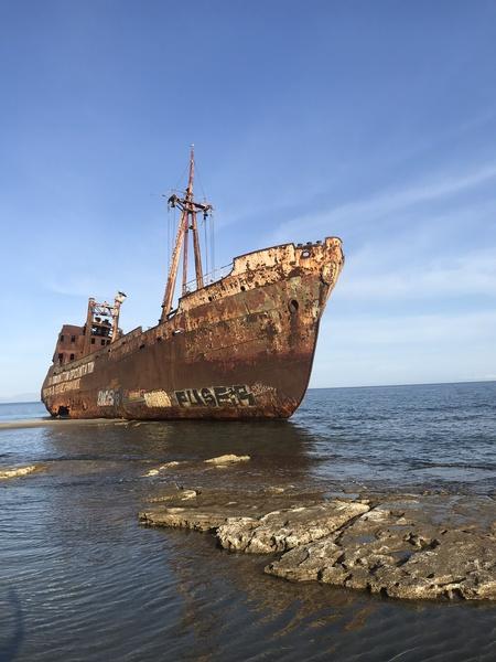 Dimitros shipwreck in Greece by Anita Varga