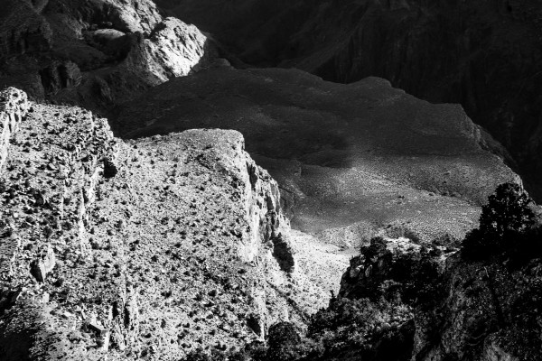 Grand Canyon B&W 2 by Anthony M Farber