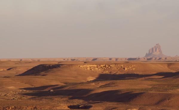 Shiprock Desert Scene by Anthony M Farber