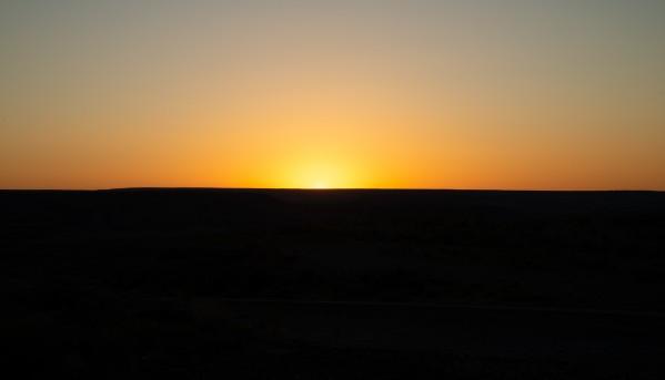 Desert Sunset by Anthony M Farber