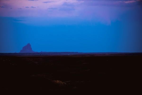 Shiprock Desert Scene Sunset by Anthony M Farber