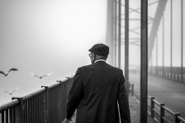 oldman on the bridge by Arash Azarm