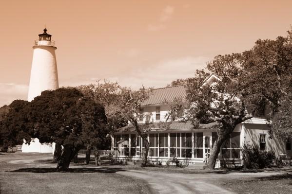 Ocracoke Light ap 1743 B&W by Artistic Photography