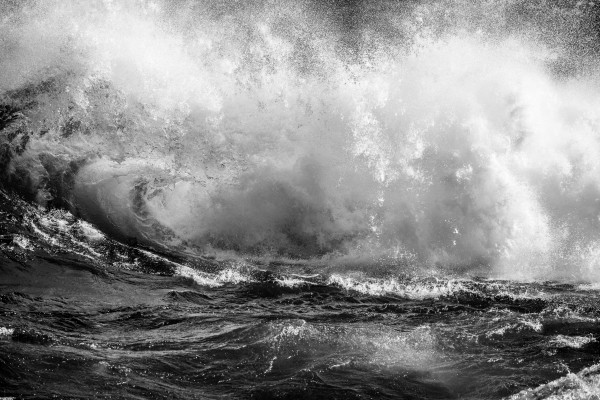 Wave Curl ap 2666 B&W by Artistic Photography