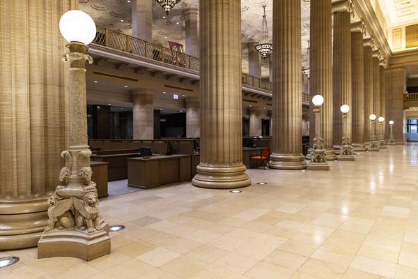 Bank Columns by Ashley ML Studios